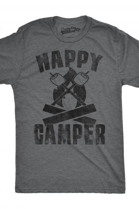 Happy Camper Shirt, Wilderness Shirt, Weekend Away, Camping Shirt Men, Gift For Camper, Funny Mens Shirts, Camping Gifts