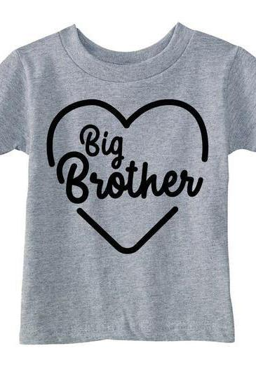 Love Big Brother Shirt, Kids Heart Big Brother Shirt, Funny Gift Brother, Big Brother Gift, Brother Birthday Gift, Funny T Shirts kids