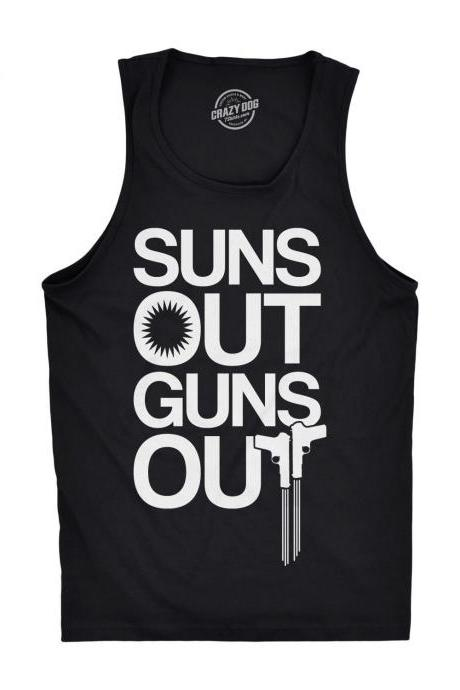Suns Out Guns Out Tank Top, Mens Tank Top, Workout Tank Top for Men, Funny Muscle Tank Top, Awesome Summer Tank, Funny Tank Tops For The Gym