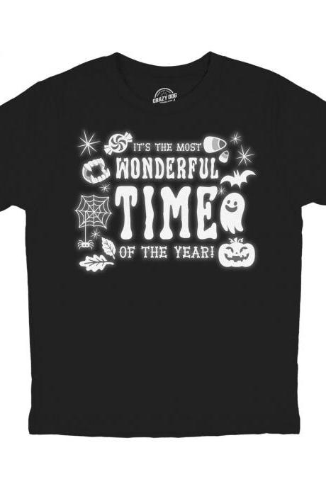 Ghouls Ghosts Shirt, The Most Wonderful Time Halloween T Shirt, Boy Halloween Shirt, Kids Halloween Costume, Funny Childrens Halloween Shirt
