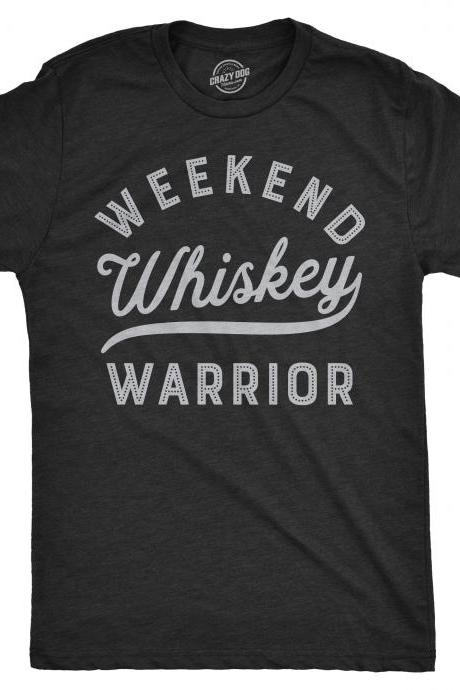 Whiskey Shirt Men, Weekend Warrior Shirt, Party Shirt Funny, Bachelor Party Tee, Vegas Holiday Shirt, Stag Do Shirt, Weekend T Shirt