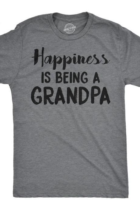 Grandpa Shirt, Gift for Grandpa, Funny T shirt for Grandpa, Happiness is Being a Grandpa T shirt, Papa T shirt, Grandpa Birthday