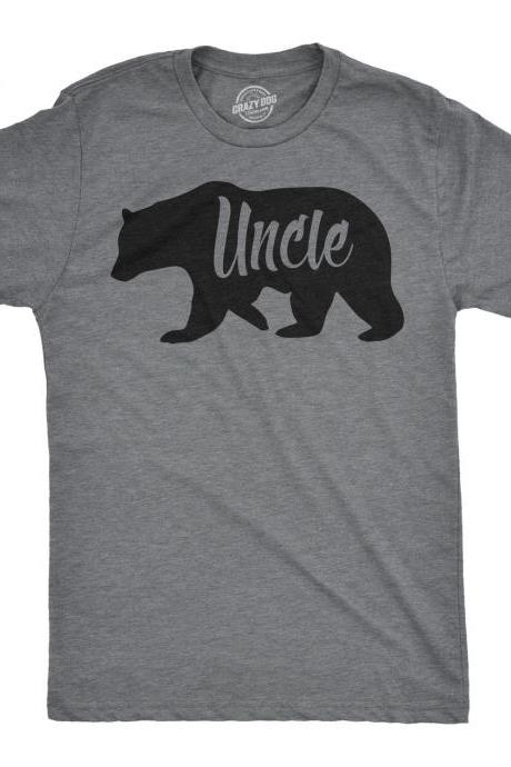 Uncle Bear T shirt, Fathers Day Gift, Gift for An Uncle, Uncle Shirt, Relatives T Shirts, Bear Shirt For Men, Papa Bear Shirt