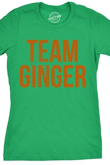 Team Ginger Shirt, Womens Ginger T Shirt, Ginger Hair Fitted Shirt, Im Ginger, Red Head Shirt, Funny Shirt For Gingers, St Patricks Day