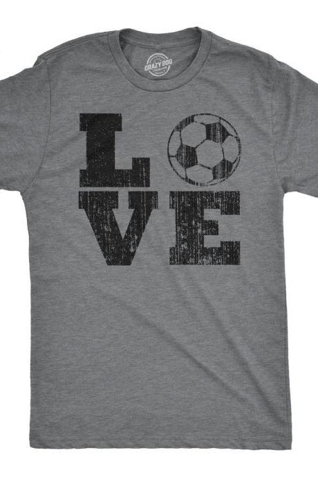 Love Football Shirt, Soccer Shirt Man, Funny Sports Tees, Soccer T Shirt Men, Dad Gift Ideas, Football Fan Shirt