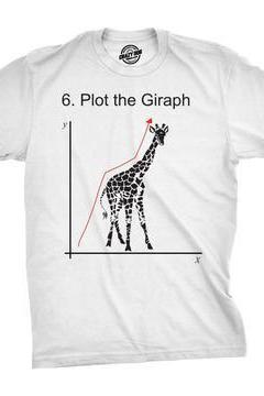 Geeky Shirts, Nerdy T Shirts, Funny Shirt, Mens Maths Shirt, Maths Student Shirt, Funny Teacher Shirts, Plot The Giraph Shirt
