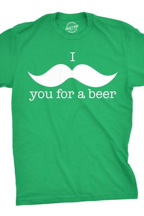 I Mustache You For A Beer, Beer Shirt Men, Funny Drinking Shirt, Beer Tee, Saint Patricks Day Shirt, St Patricks Shirt For Men