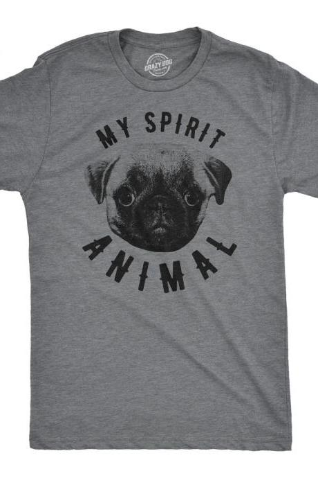 Pug Shirt, Mens Cute Shirt, Spirit Animal Pug, Spirit Animal Shirt, Trendy Shirts, Funny Pug Shirts, My Spirit Animal Pug, Funny Dog Shirts