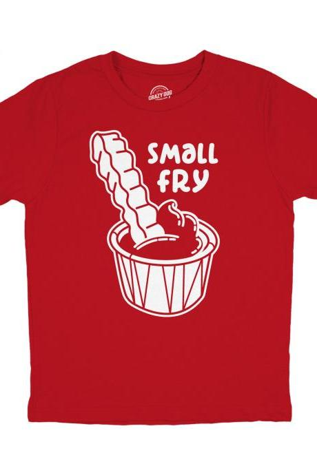 Youth Small Fry Shirt, Food Gifts, Funny Food Shirts, Cute Kids Shirts, Children Food Lover Shirts, Small Fry And Ketchup Shirt