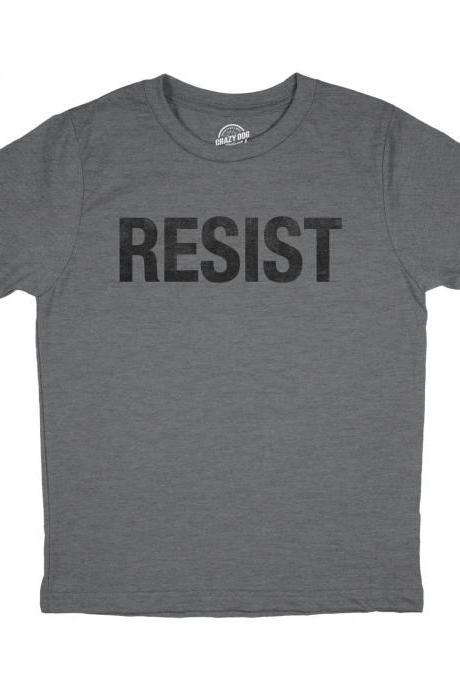 Youth Resist T shirt, Political Shirts, Protester Shirts, Anti Trump Shirt, Rebel T Shirt, Cool Shirt, Kids Graphic Tees, Anti Government