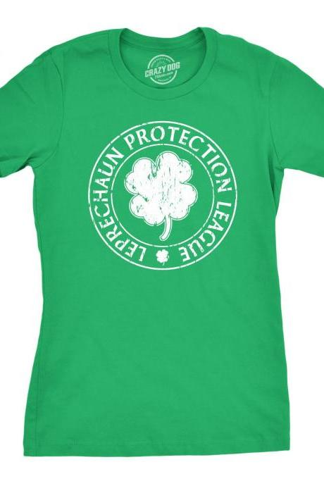 Leprechaun Shirt Women, St Patricks Day Four Leaf Clover T Shirt Woman, Irish Drinking Night Out Shirt Girls, Shamrock TShirt Women