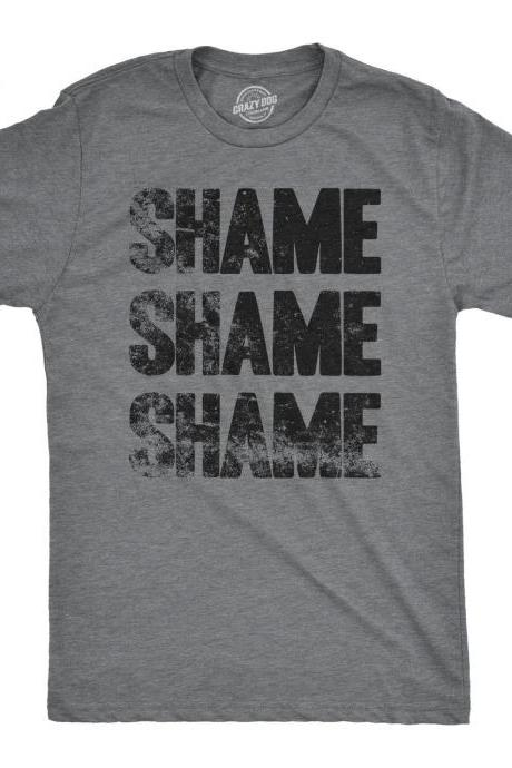Shame Shame Shame T shirt, Political Shirts, Protester Shirts, Anti Trump Shirt, Cool Shirt, Mens Graphic Tees, Anti Government