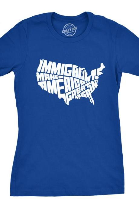 Cool Shirt, Immigrants Make America Great Again Shirt, Political Shirts, Protester Shirts, Anti Trump Shirt, Rebel T Shirt, Anti Government