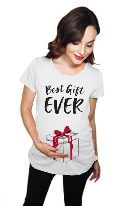 Best Gift Maternity Shirt, Christmas Pregnant Shirt, Pregnancy New Mom, Christmas Baby Gift, Baby Bump Shirt, Best Gift Ever Shirt