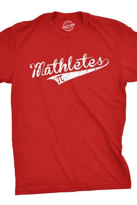 Mathletes Pi T-Shirt, Funny Mens TShirt, Gift for Guys, Funny Math Shirt, Math T-shirt, Gifts for Math Teacher, Mathlete, Mathematician