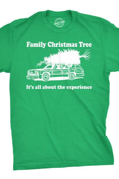 Christmas Tree Shirt Men, Funny Xmas Shirt, Tacky Christmas Top, Worst Christmas Shirt Dad, Its All About The Experience
