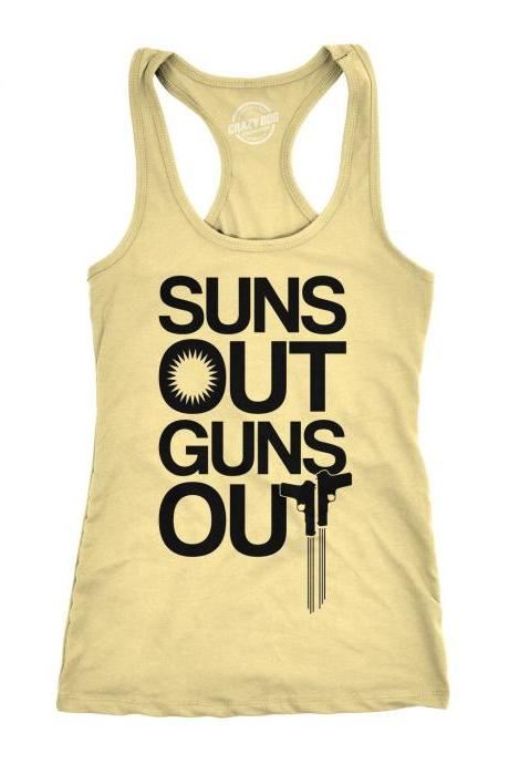 Summer Tank Top, Funny Womens Tank Top, Womens Fitness Tank Top, Workout Tank Women, Get Fit Top, Suns Out Guns Out Tank Top