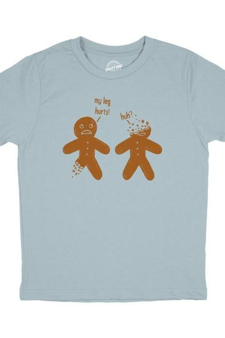 Gingerbread Man Shirt, Funny Kids T Shirt, Sarcastic Shirt Boy, Boys Gift Funny, Birthday Party Shirt, Gingerbread Graphic Tee
