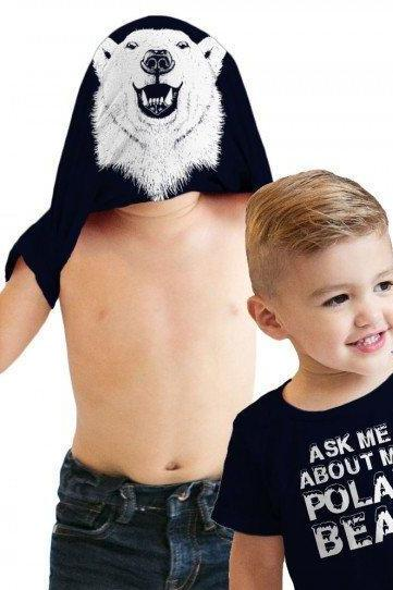 Polar Bear Shirt, Funny Kids Shirts, Toddler Polar Bear Tee, Polar Bear Flip Shirt, Funny Toddler Shirt, Ask Me About My Polar Bear