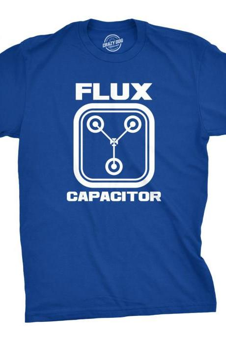Flux Capacitor T Shirt, Funny Mens Shirt, Back To The Future, Nerdy Shirt, 80s Movie Tees, Mens T shirt, Funny Science Shirt, Geeky Gift