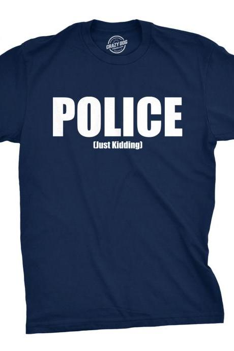 POLICE Shirt, Feds Shirt, Cops Shirt Men, Fake Police Tee, Mens Funny Shirt, Funny Workout Shirt for men, Police Shirt