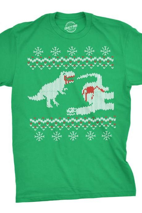 Dinosaur Shirt, Ugly Christmas Shirt, Worst Xmas Tee, Bad Taste Shirt, Horrible Shirt Christmas, Dinosaur Christmas, Funny Xmas Shirt