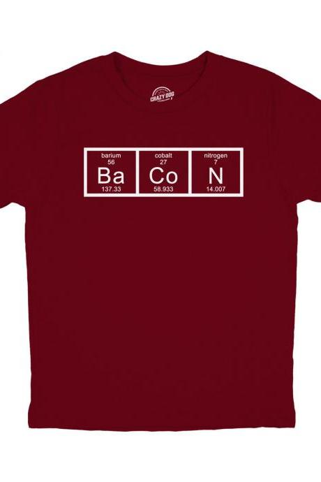 Youth Bacon Shirt, I Love Bacon Shirt, Funny Food Shirt, Food Addict Shirt, Nerdy T Shirt, Chemistry Bacon Funny T Shirt, Funny Food Shirt