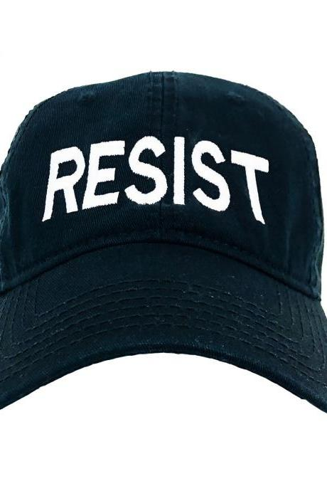 Dad Hat, Resist, Empowerment Hat, Embroidery Hat, cotton hat, Dad Gift, Unisex Hats, baseball hat, Christmas gift, political