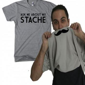 Ask Me About My mustache shirt flip S-4XL